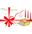 New Year Gift Card or New Year Dinner Voucher vector image vector image