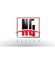 ng n g logo letters with red and black colors and vector image vector image