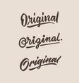 original roughen vintage hand lettering typography vector image
