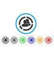 people diagram rounded icon vector image vector image