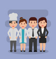 people workers characters professional group vector image vector image