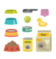 pet care accessories isolated on a white vector image