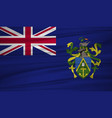 pitcairn islands flag flag of pitcairn islands vector image