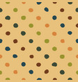 polka dots seamless pattern colorfu vector image vector image