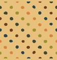 polka dots seamless pattern colorful vector image vector image