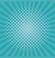 pop art blue background vector image