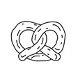 pretzel icon doodle hand drawn or black outline vector image vector image