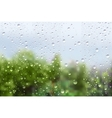 Raindrops On Window Glass vector image vector image