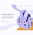 referral marketing web template with megaphone vector image vector image