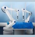 robotic arm composition vector image vector image
