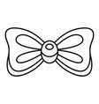 rounded bow tie icon outline style vector image vector image