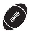 rugby ball icon on white background rugby ball vector image vector image