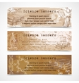 Science sketch vintage banners vector image vector image