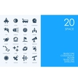 Set of BLUE HAMSTER Library space icons vector image