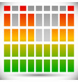spectrum color eq - equalizer template rectangle vector image vector image