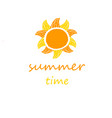 summer bannervacation time vector image