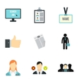 Team icons set flat style vector image vector image