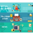 Tell Your Story News and Social Networking vector image