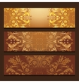 template banners with filigree pattern vector image vector image
