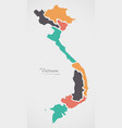 vietnam map with states vector image