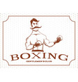 vintage boxer stays in rack vector image vector image