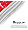 waving flag of on white background vector image
