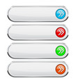 white buttons with colored arrows menu interface vector image vector image