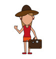 woman tourist vector image vector image