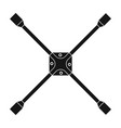 wrench for wheel single icon in black style vector image vector image