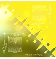 Yellow silhouettes of wine attributes on an vector image vector image