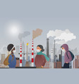 young sad male and female people wear protecting vector image vector image