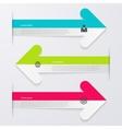 infographics 3 arrows vector image