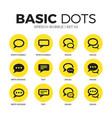 speech bubble flat icons set vector image