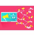 Advertise Social Network Business Megaphone vector image vector image
