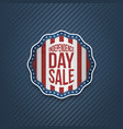 american independence day sale realistic banner vector image vector image