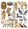 ancient egypt pharaoh pyramids sphinx and gods vector image vector image