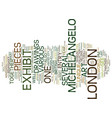 art in london text background word cloud concept vector image vector image