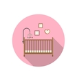 Baby crib icon vector image