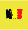 belgium flag painted by brush hand paints art vector image