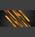 black and golden abstract tech background with vector image vector image
