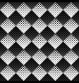 black and white abstract geometrical square vector image vector image