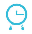 blue color silhouette of clock icon vector image vector image