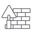 brick walldiy line icon sign vector image vector image