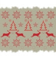 Christmas embroidery cross-stitch pattern with vector image vector image