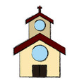 church building symbol vector image
