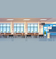 class room interior empty school classroom with vector image vector image