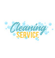 cleaning servise logo symbol or badge template vector image