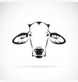 cow head design on white background farm animal vector image