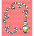 cute card for kids vector image vector image