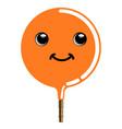 cute passion fruit emoticon vector image vector image